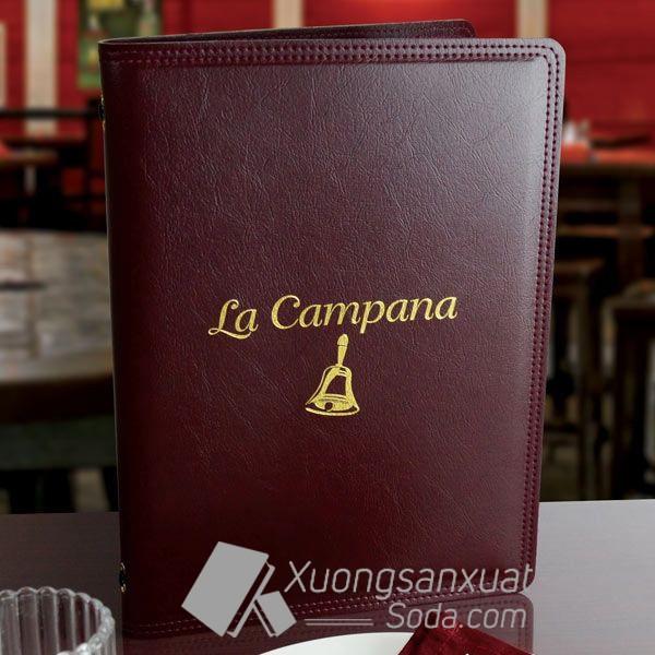 Bìa Menu Da Nhà Hàng La Campana