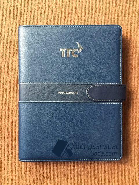 Mẫu bìa da ép nhũ bạc TTC 69