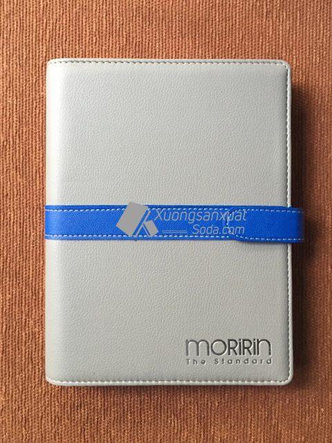 Sổ tay bìa da ép nhũ bạc MORIRIN 99