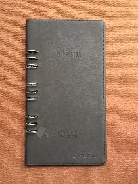 Bìa menu khách sạn Silk Path