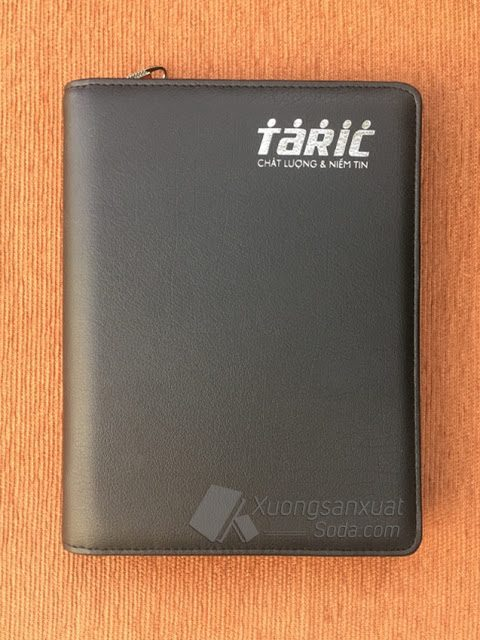 Sổ Bìa Da Khóa Kéo – Sổ Còng TARIC MS120