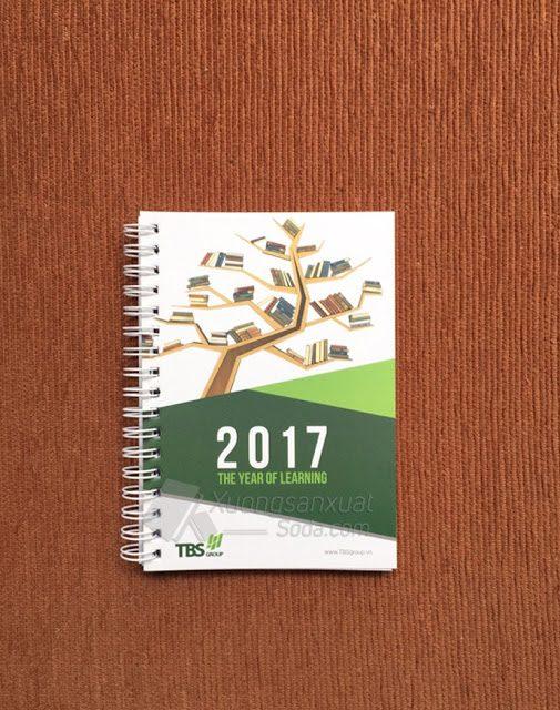 Sổ Tay 2017 – Sổ Lò Xo TBS Group