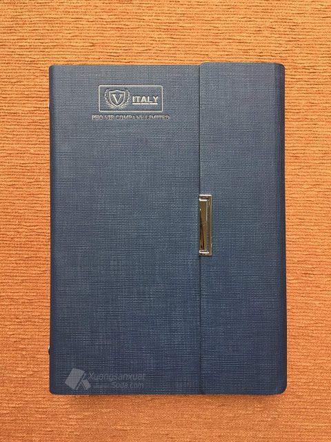 Sổ Tay Bìa Da Pu, Sổ Còng 6 Lỗ V-ITALY 159