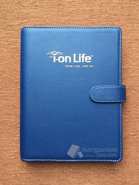 Sổ Còng Bìa Da Simili Ép Nhũ Vàng I-on Life 145