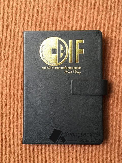 Sổ dán gáy ép nhũ vàng DIF 74