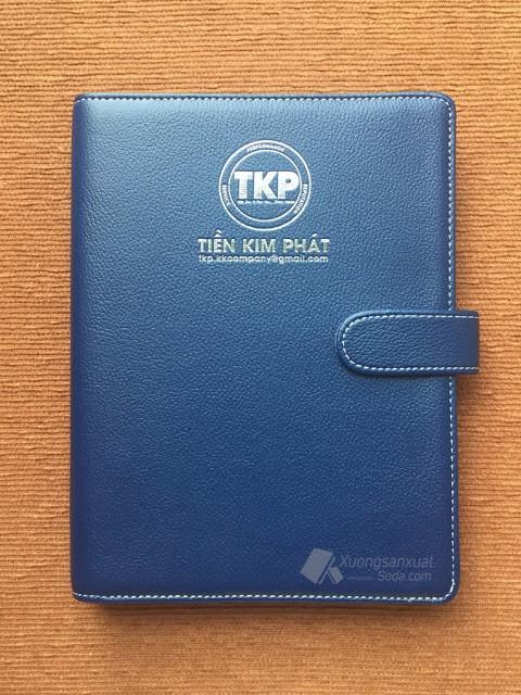 Sổ Bìa Da Cao Cấp Ép Nhũ Bạc Tiền Kim Phát 158