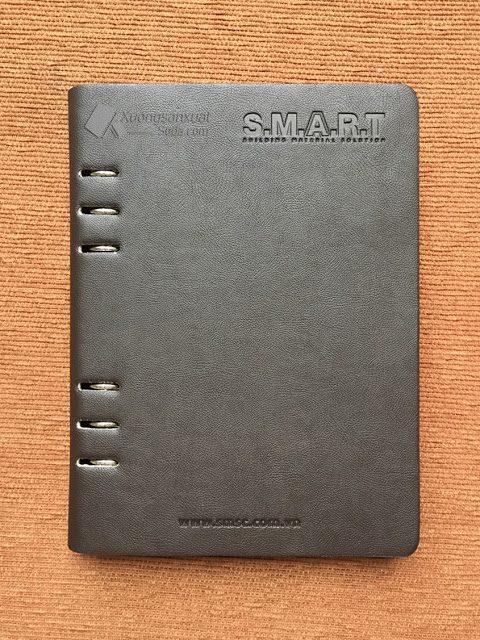 Sổ Bìa Da Hở Còng Lăn Sơn Cạnh Da Simili SMART 151