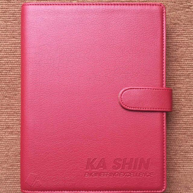 Sổ Tay Bìa Da Simili Ép Logo KA SHIN 162