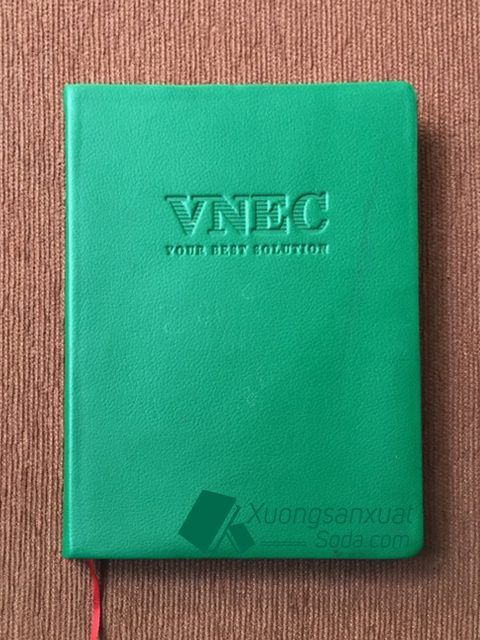 Sổ tay bìa da dán gáy VNEC 77