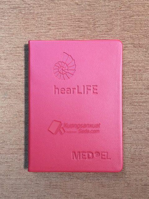 Sổ dán gáy bìa da simili Hear LIFE 40