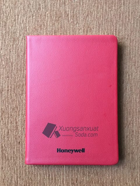 Sổ dán gáy bìa da simili Honeywell 72