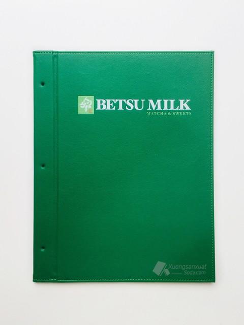 Bìa Da Đựng Menu Betsu Milk