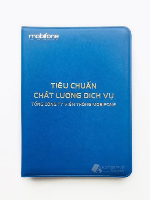 Bìa Đựng Hồ Sơ Da Simili Ép Kim Mobifone