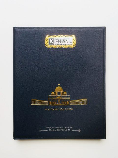 Bìa Da Đựng Hồ Sơ Ép Kim Kiến An Corp