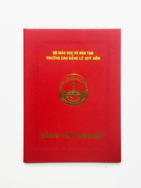 Bìa Giấy Đựng Bằng Tốt Nghiệp Trường Lê Quý Đôn