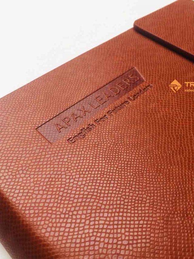Sổ Còng 6 Lỗ APAX – Sổ Da Pu Lăn Sơn Cạnh Cao Cấp 199