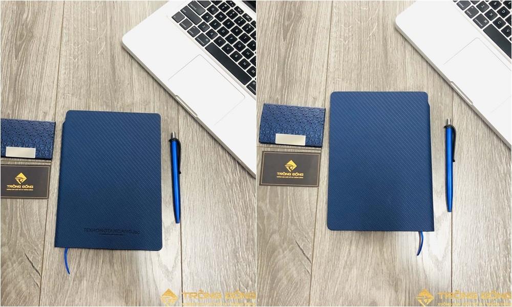 Bìa trước và bìa sau của sổ da dán gáy Texhong Tân Cảng