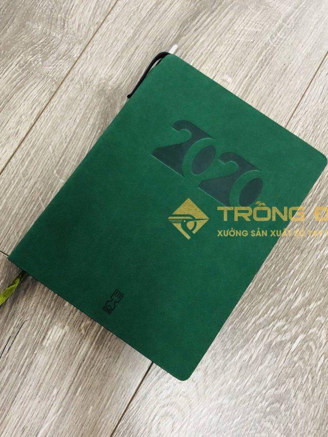 Sổ Da Dán Gáy Ép Nhiệt Logo TORRECID 205