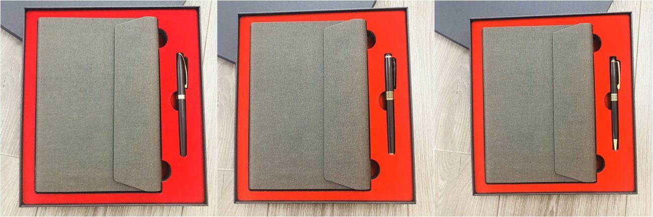 Bộ quà tặng gồm sổ tay và bút ký sang trọng