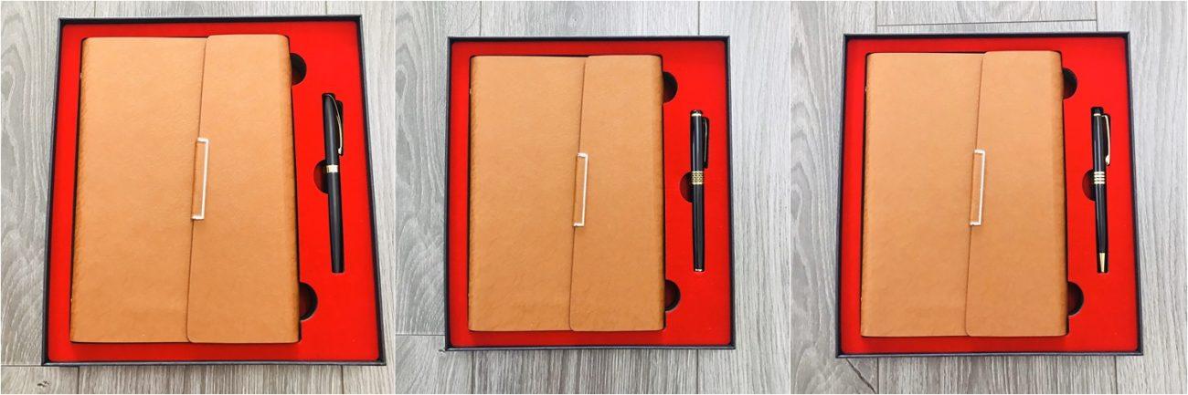 Bộ quà tặng sổ tay và bút ký dành tặng cho doanh nghiệp