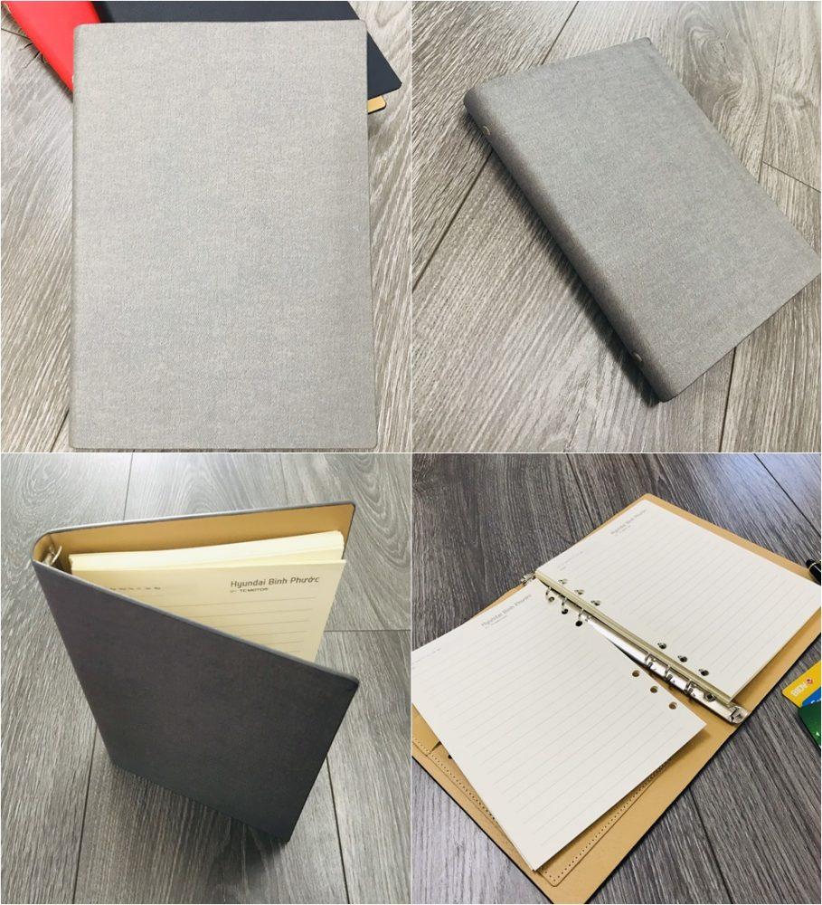 Mẫu sổ bìa da có sẵn mẫu 006 màu xám