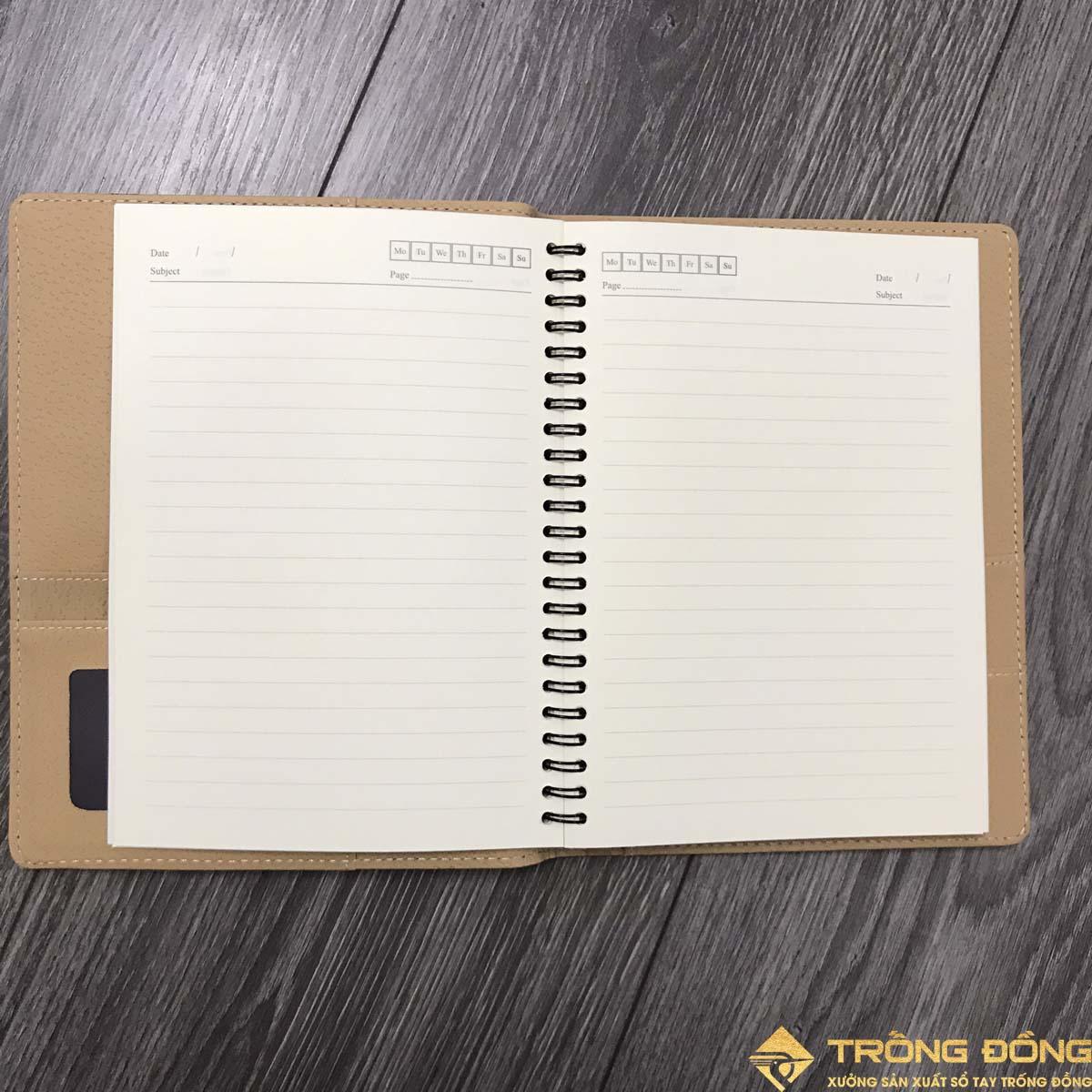 Phần ruột sổ của sổ tay lò xo móc SDTĐ 06