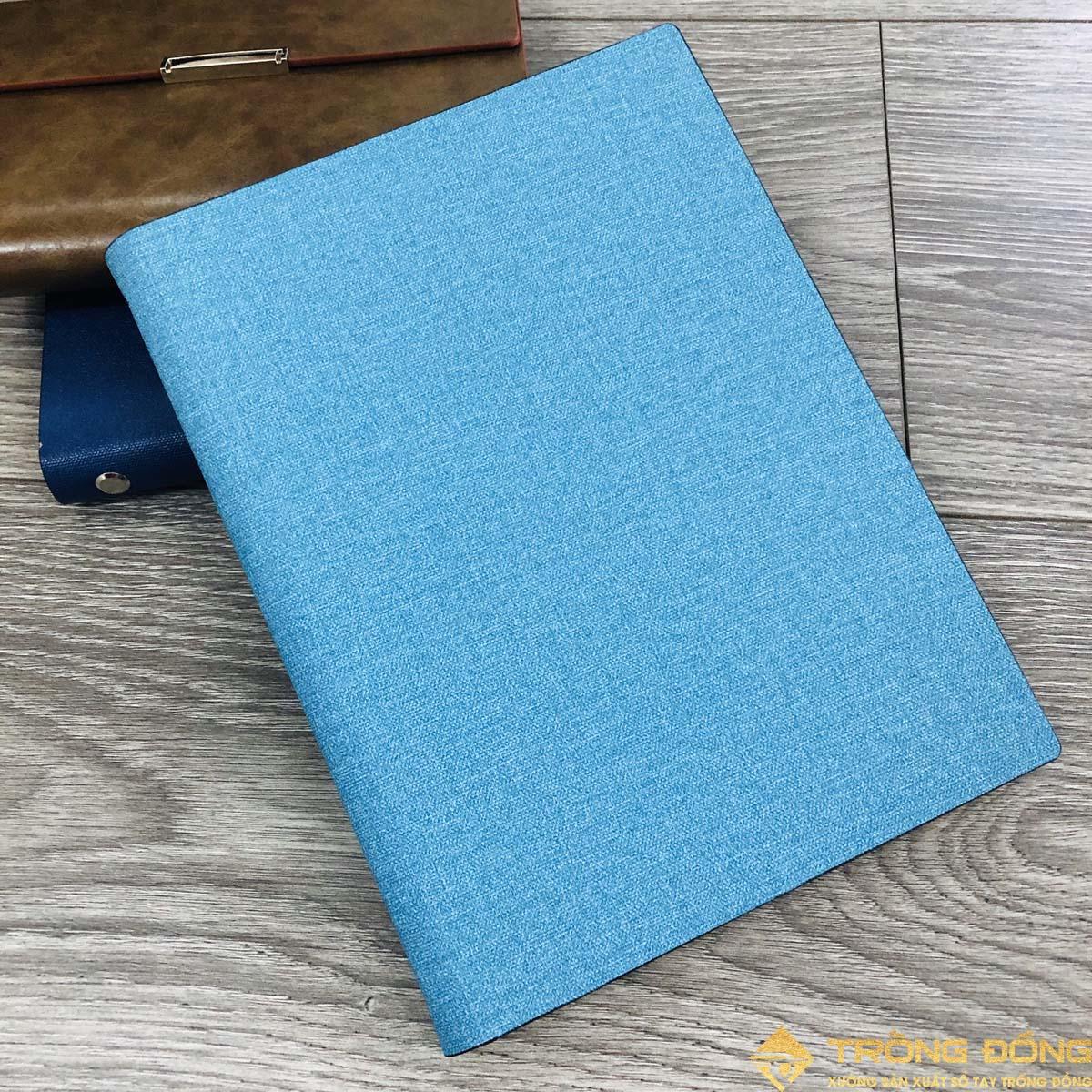 Sổ lăn sơn A5 lò xo màu xanh ngọc - LSA5 Lò Xo 01
