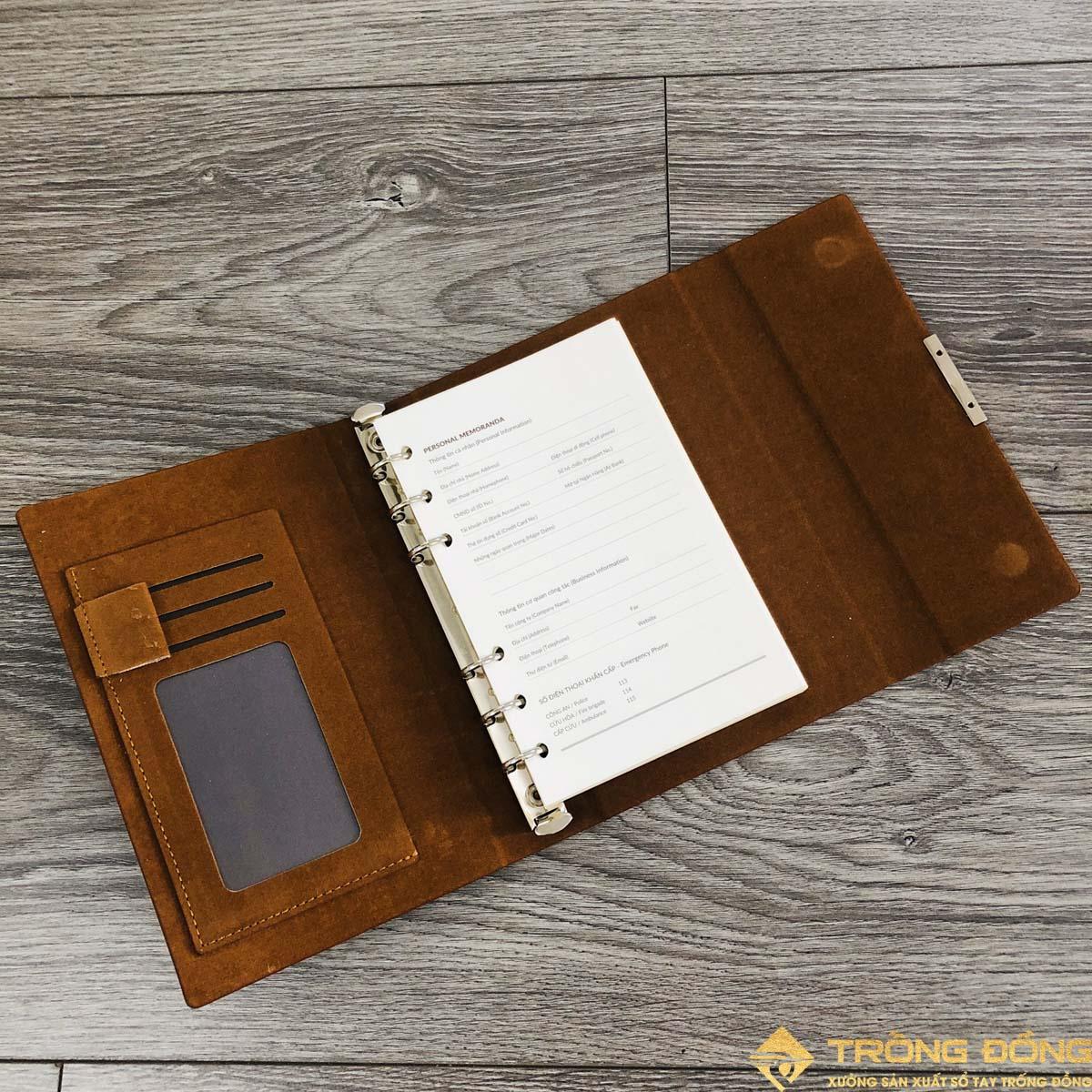 Các ngăn phụ của sổ tay LSA6 - 01B