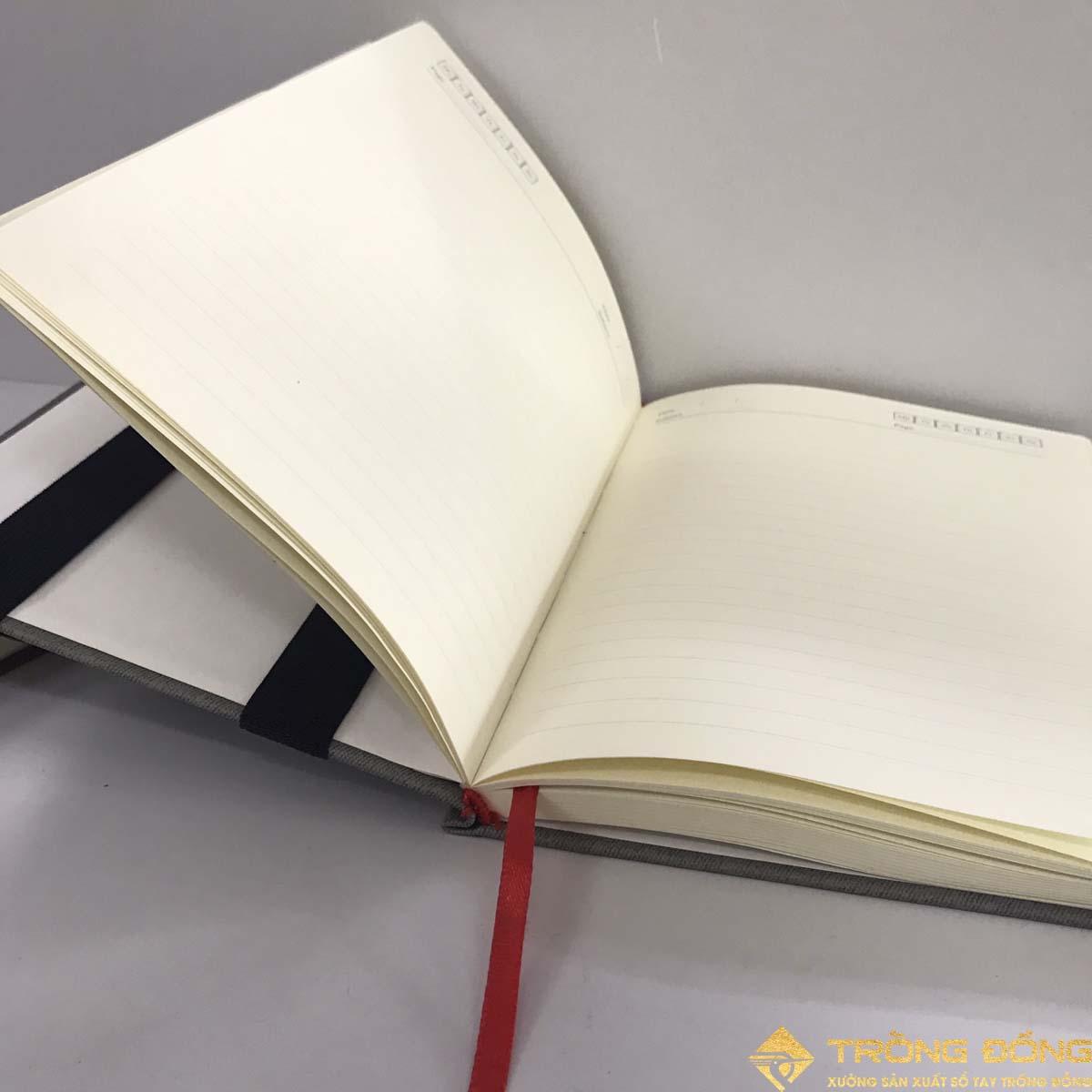 Phần ruột sổ dán gáy bên trong của sổ bìa dán