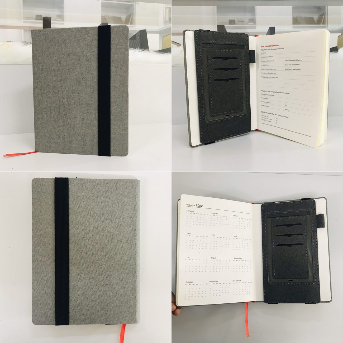 Ngăn đựng đa đăng lắp ở bên trong của bìa trước và bìa sau sổ dán gáy.