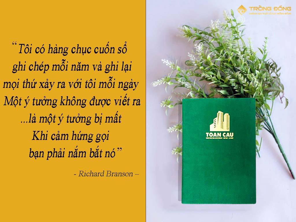 Sổ tay quà tặng và câu nói nổi tiếng của tỷ phú Richard Branson.