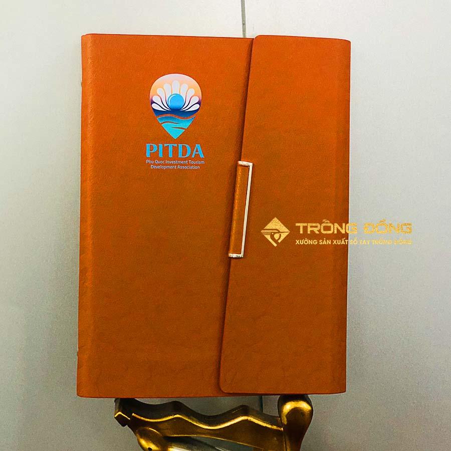 Sổ tay bìa da in logo Hội đầu tư phát triển du lịch Phú Quốc - PITDA