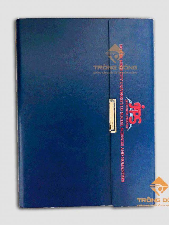 Bộ Quà Tặng Sổ Tay Bìa Da Và Bút Kim Loại Logo JPS – 215