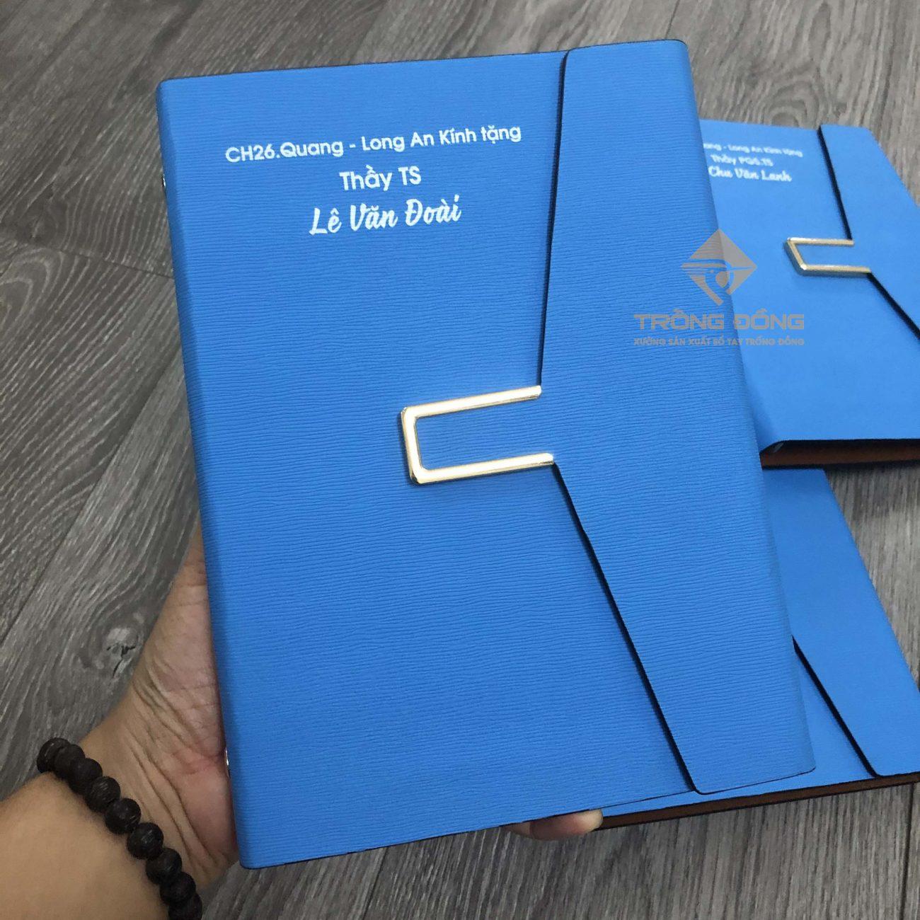 """Mẫu sổ tay LSA5 BAO THƯ 1B in chữ làm quà tặng lưu niệm cho thầy giáo """"Lê Văn Đoài"""""""