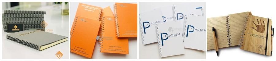Các loại sổ tay lò xo thiết kế và in logo đẹp giá rẻ tại Tp.HCM.