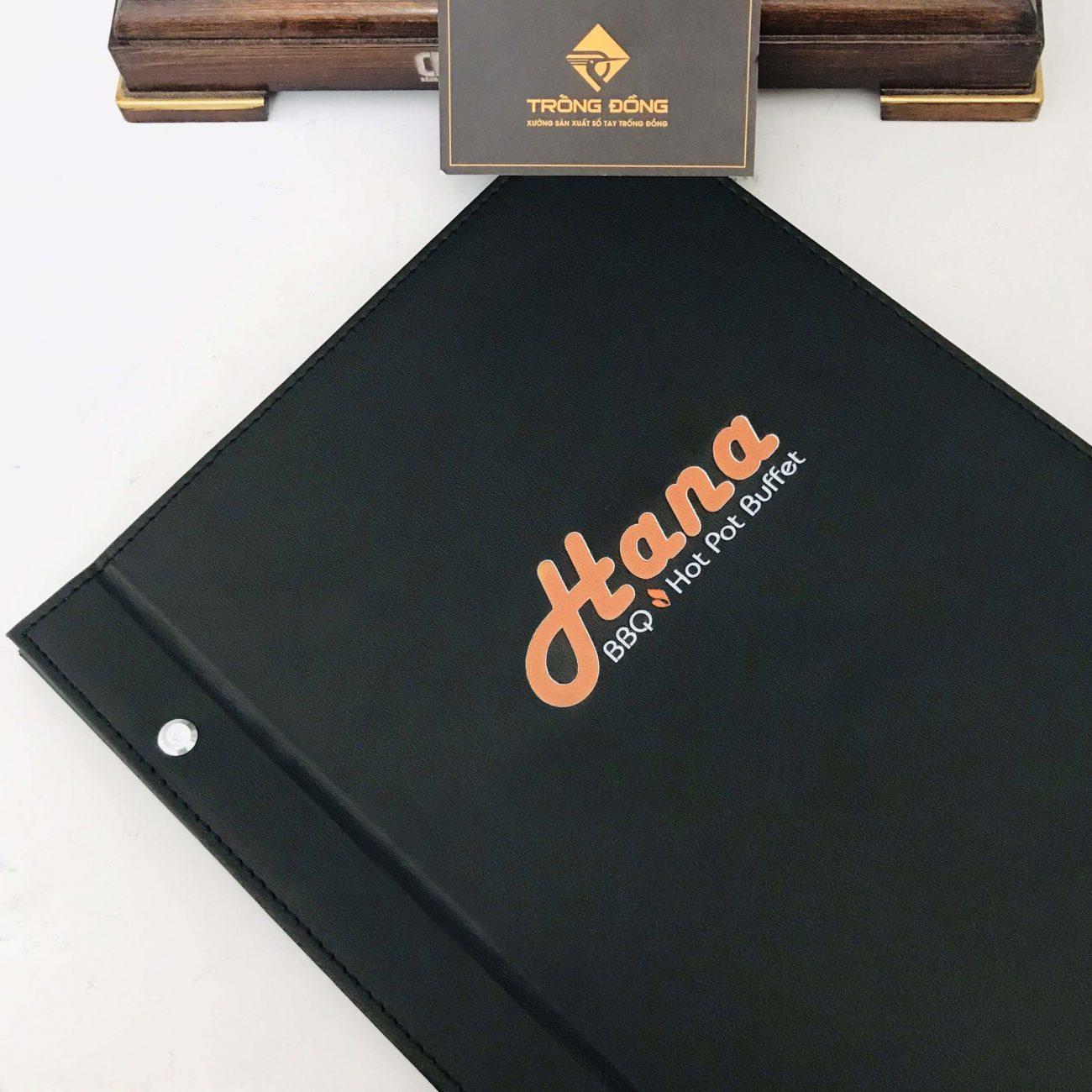In logo lên bìa Menu nhà hàng, khách sạn...