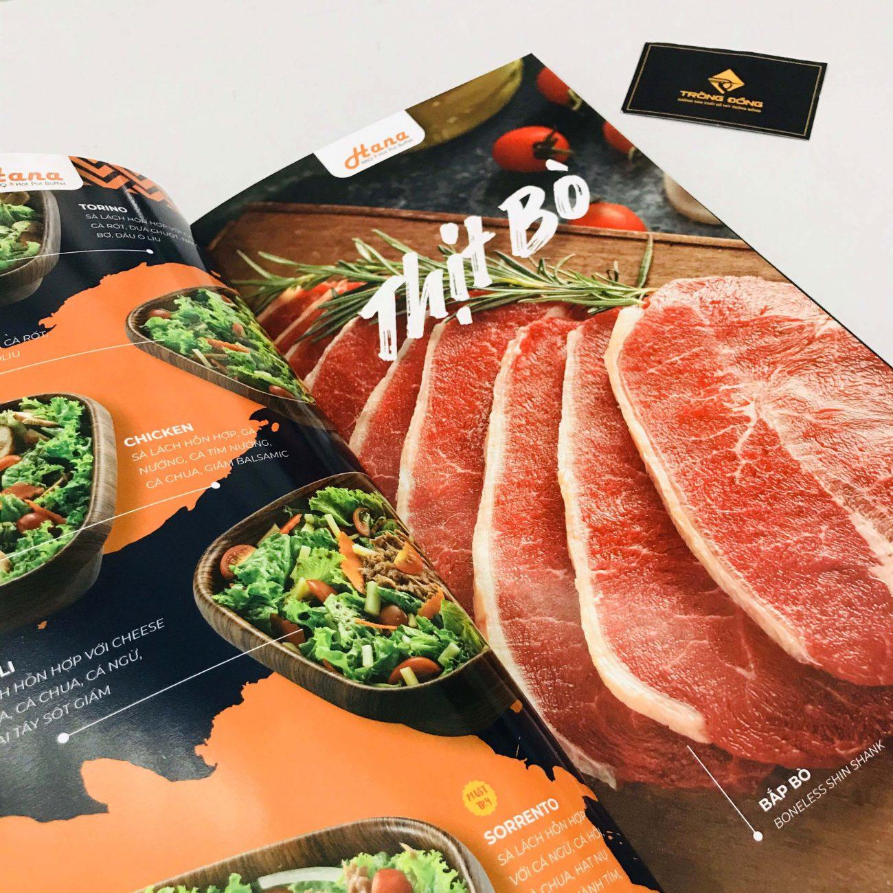Menu bìa da chính là hình ảnh đại diện của các quán ăn, nhà hàng