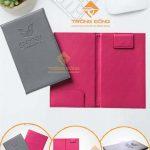 Bìa Kẹp Bill Tính Tiền Bằng Da May Viền Ép Logo SHYNH PREMIUM -222